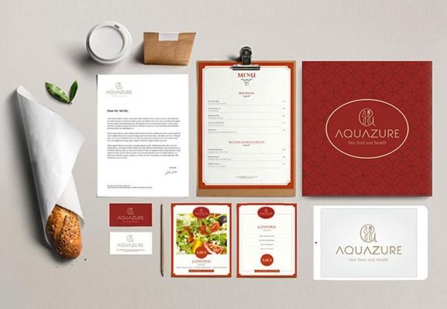 Identitate vizuala restaurant Aquazure