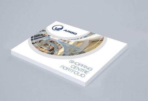 Design grafica brosura de prezentare dezvoltator imobiliar Argo Property