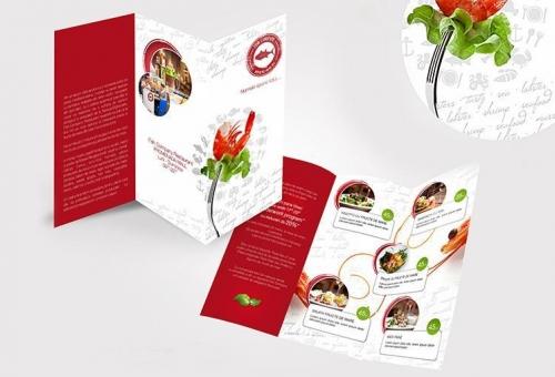 Creatie grafica meniu, flyer si postre restaurnat Fish Company