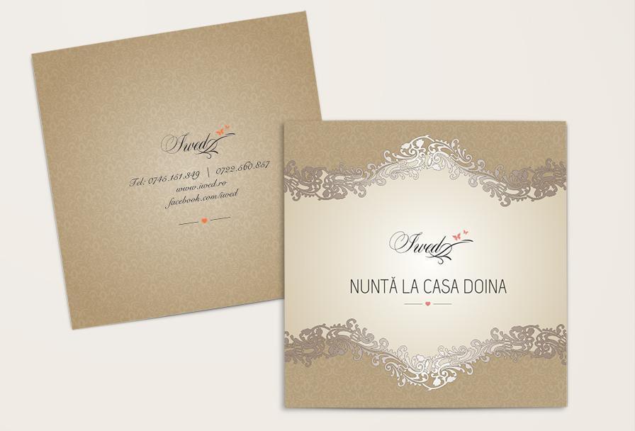 Creatie grafica brosura de prezentare coperta firma organizare evenimente Iwed