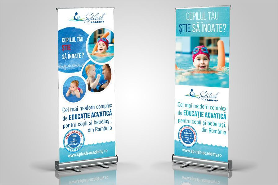 Creatie grafica roll up Splash Academy