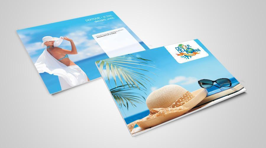 Creatie grafica brosura oferte de vara Dertour
