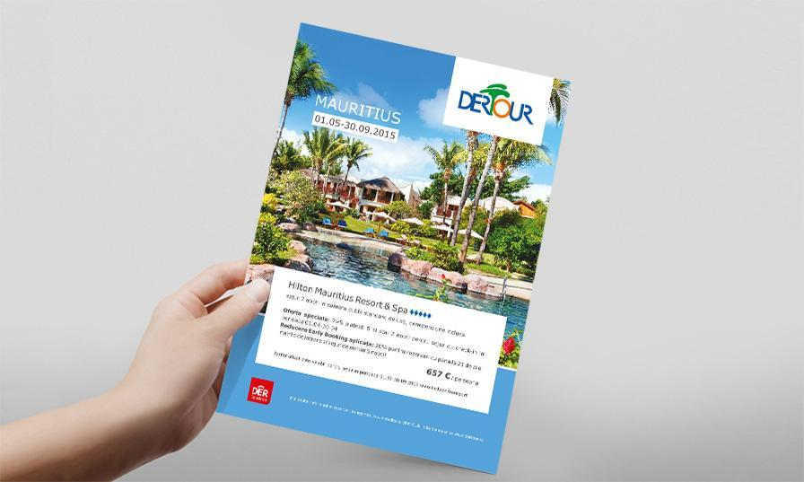 Grafica flyer corporate Dertour