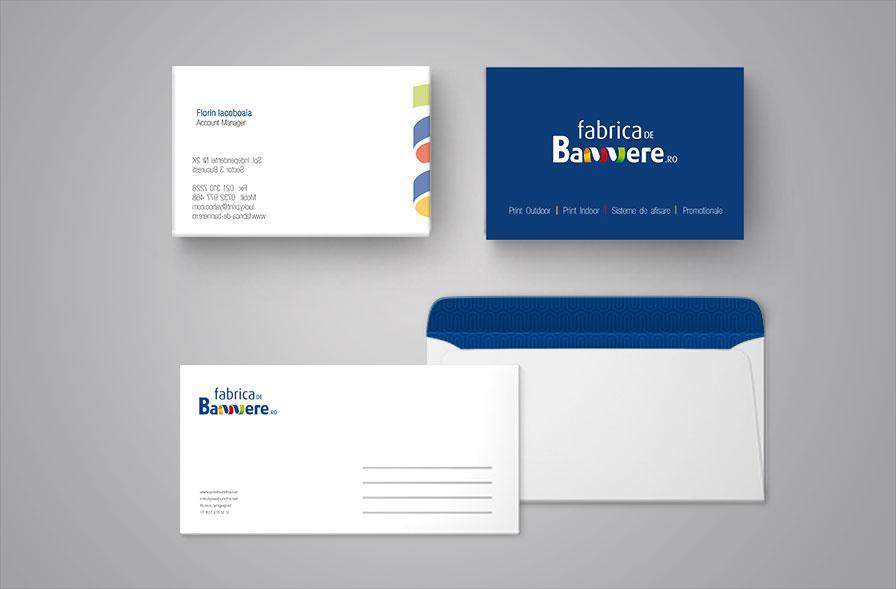Creatie identitate vizuala carti de vizita personalizate Fabrica de bannere