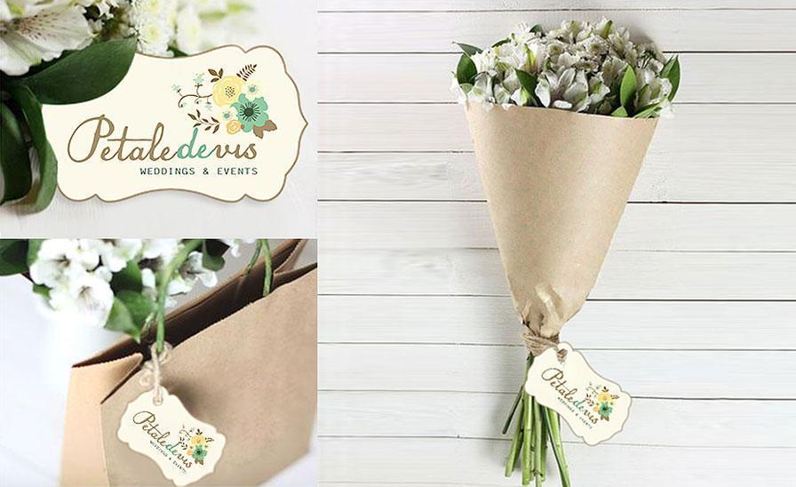Creatie etichete si printuri florarie Petale de vis