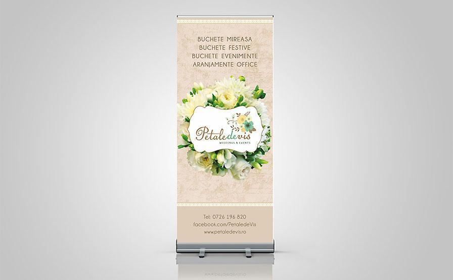 Creatie grafica roll up florarie PetaledeVis