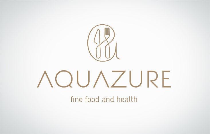 Creatie logo design modern si identitate vizuala Aquazure varianta color