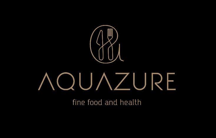Creatie logo design modern si identitate vizuala Aquazure monocrom