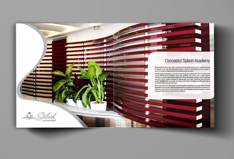 Creatie grafica brosura de prezentare Splash Academy pagina Concept