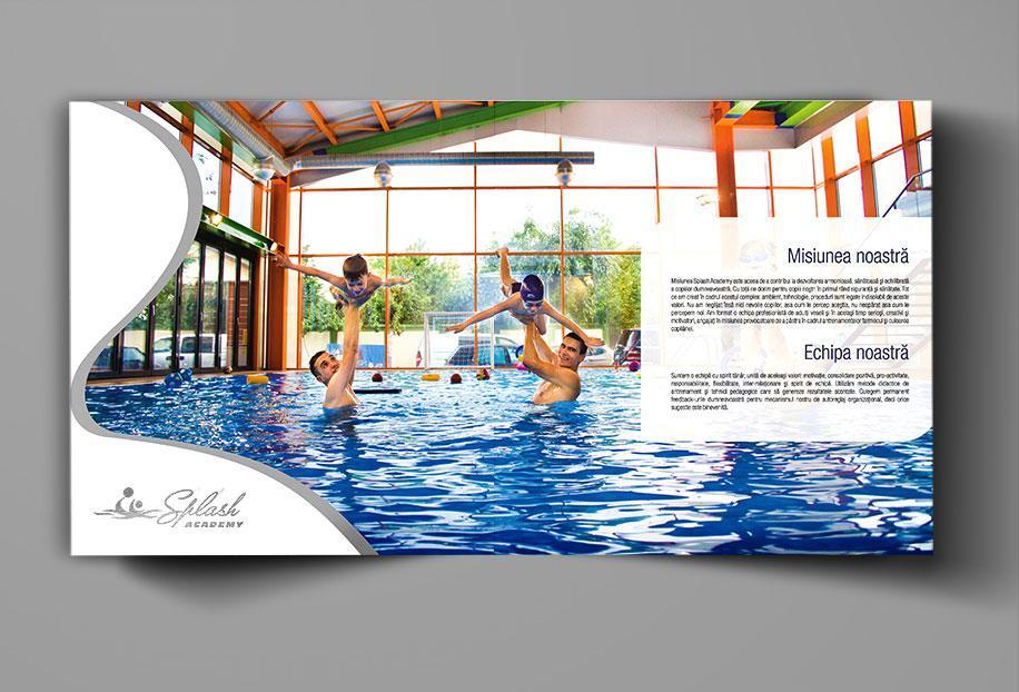 Creatie grafica brosura de prezentare Splash Academy pagina Misiune