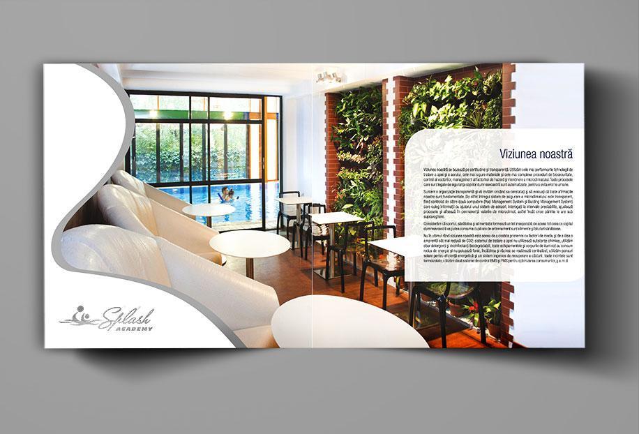 Creatie grafica brosura de prezentare Splash Academy pagina Viziune