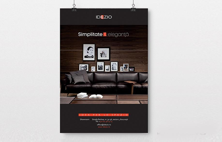 Creatie grafica afis brandul IDEZIO