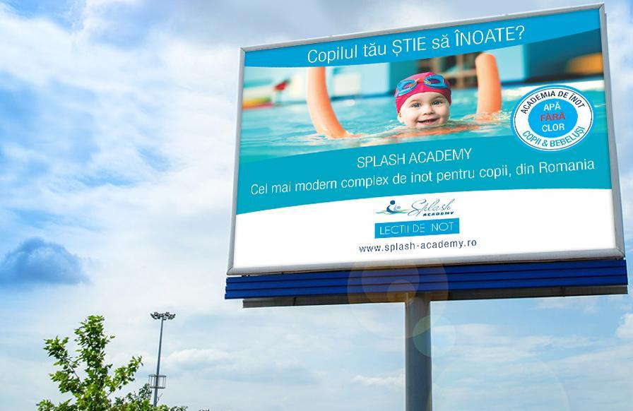 Creatie grafica outdoor Splash Academy