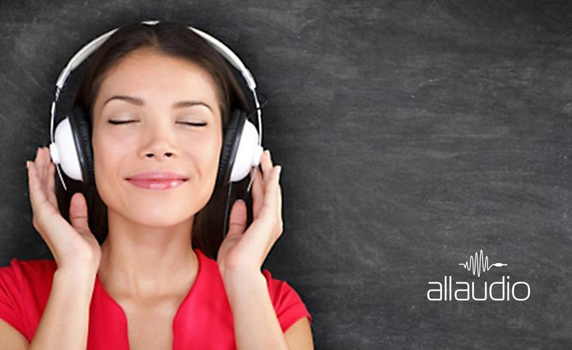 Materiale vizuale brand AllAudio