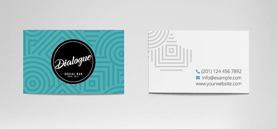 Creatie grafica design geometric carti vizita Dialogue Bar