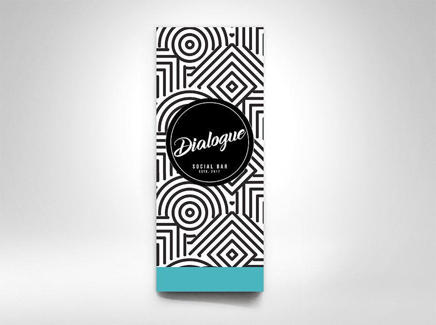 Creatie grafica design geometric meniu Dialogue Bar