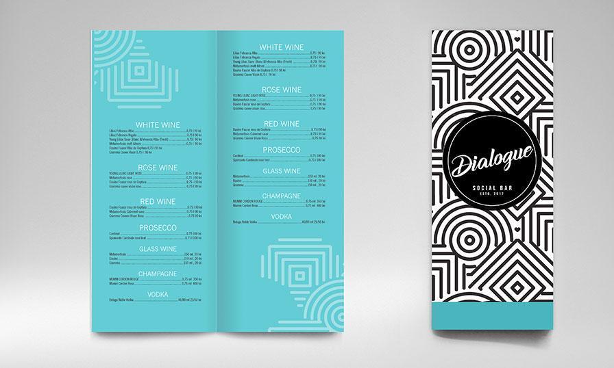 Creatie grafica design minimalist meniu Dialogue Bar
