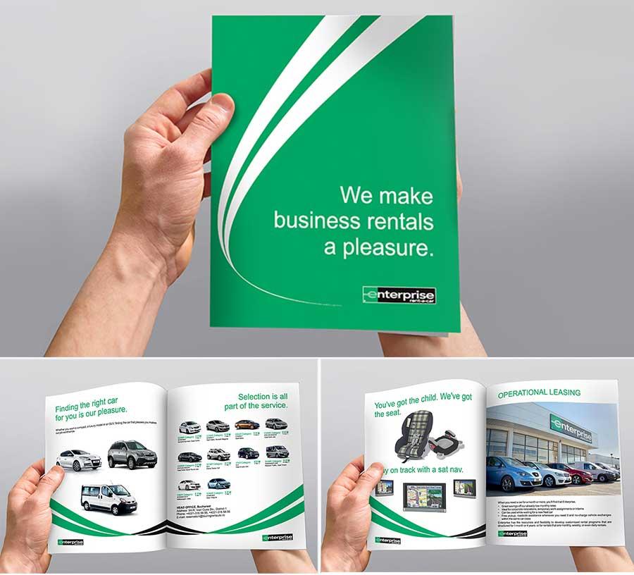 Grafica corporate si print coperta brosura Enterprise