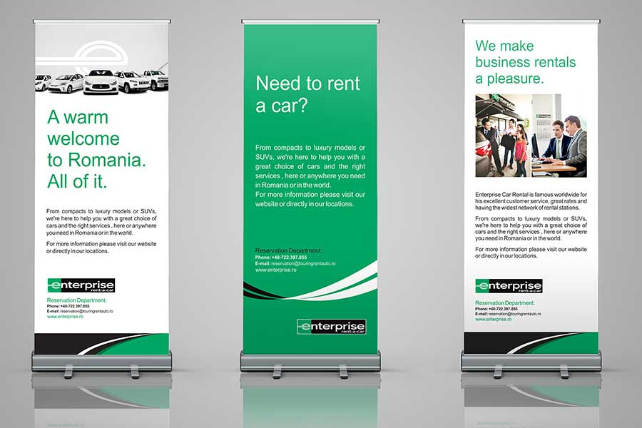 Design grafic roll up Enterprise