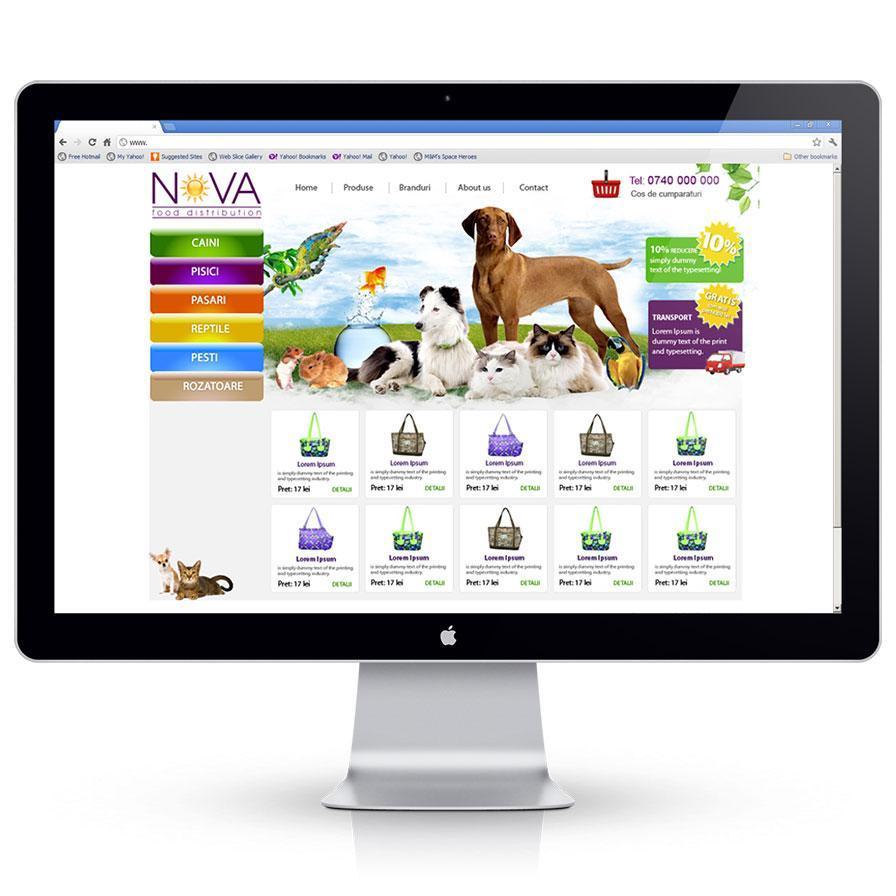 Creare magazin online de prezentare produse petshop