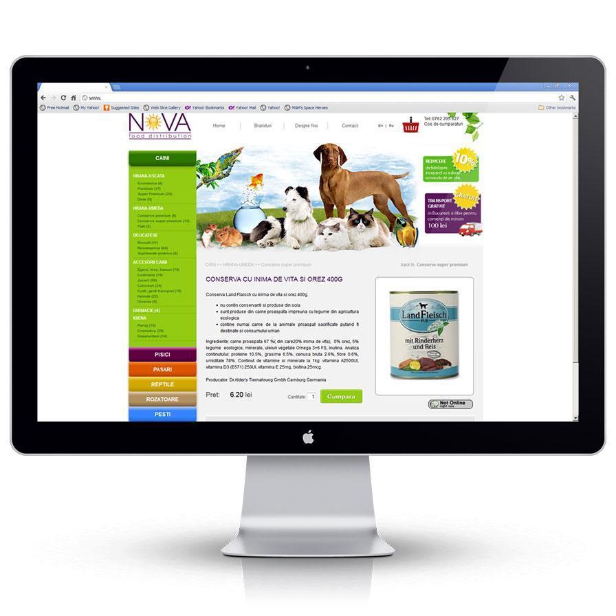 Creare magazin online de prezentare pagina produse petshop
